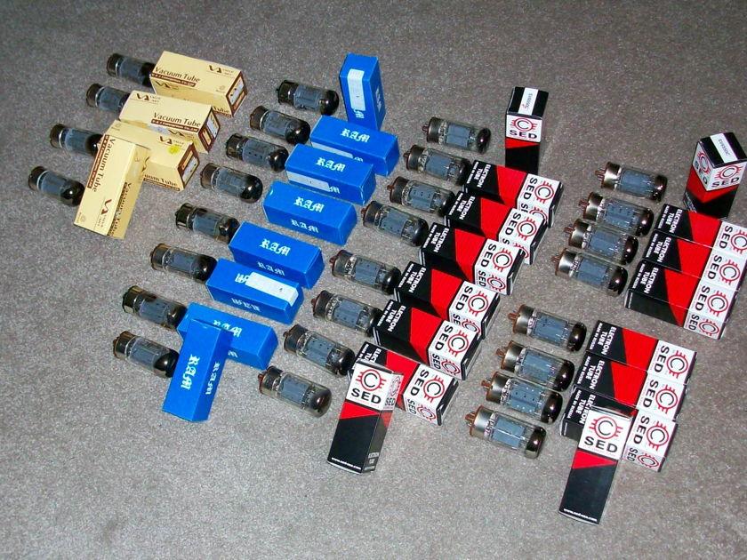6550 SED Winged C NEW & MORE... SET of 28 total tubes Svetlana, Ram, Art Audio