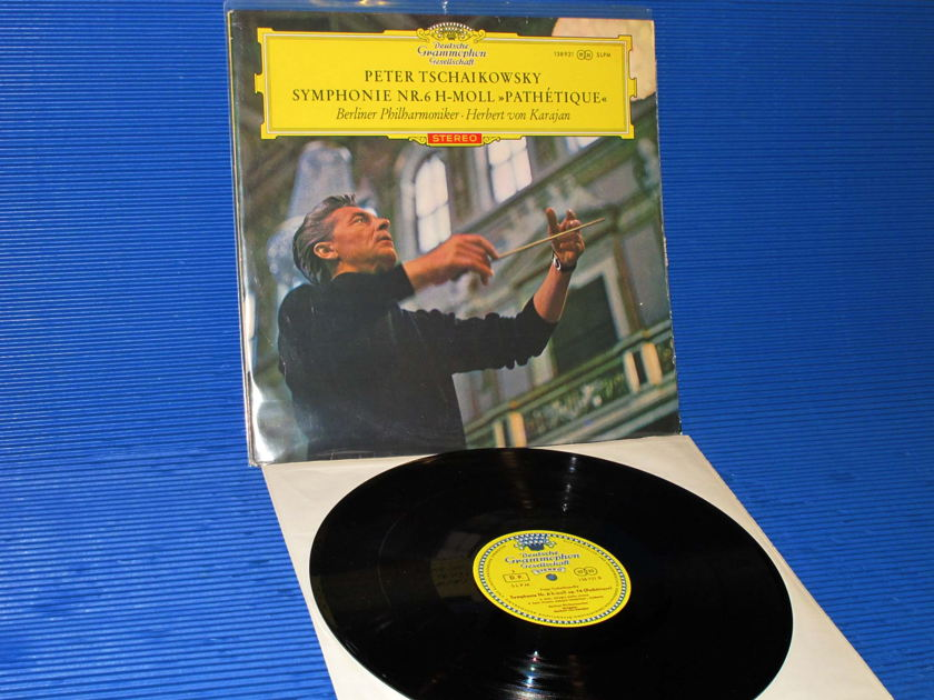 "TCHAIKOVSKY / Von Karajan  - ""SYMPHONIE 6 'PATHETIQUE' "" -  DGG 'Large Tulip' 1964 German 1st Pressing"