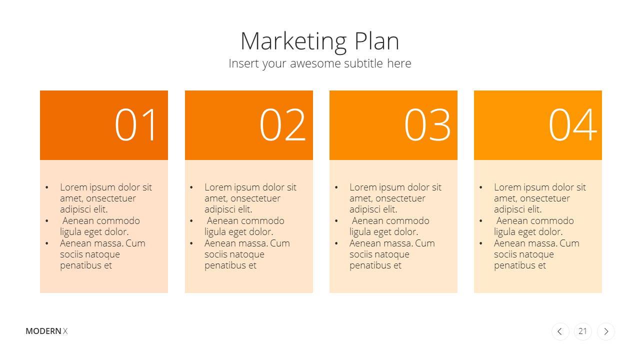 Modern X Presentation Template Business Plan Marketing Plan