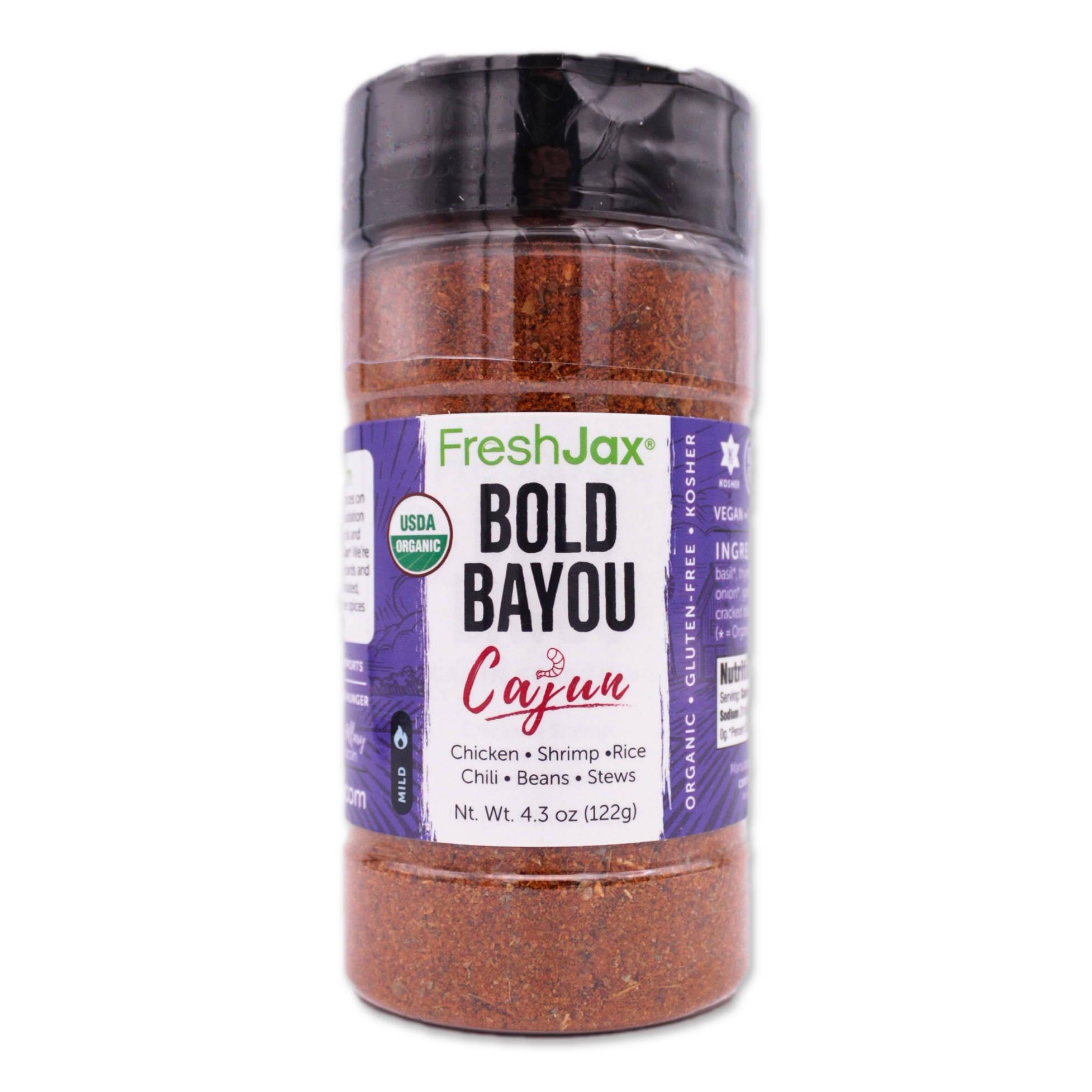 FreshJax  Organic Spices Bold Bayou Cajun Seasoning large bottle