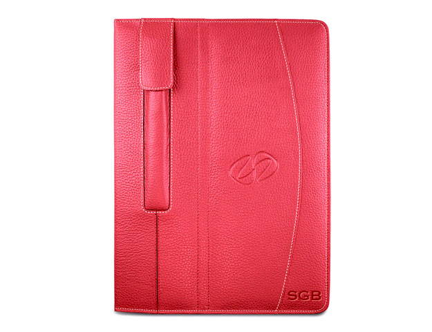 custom leather ipad pro case in red