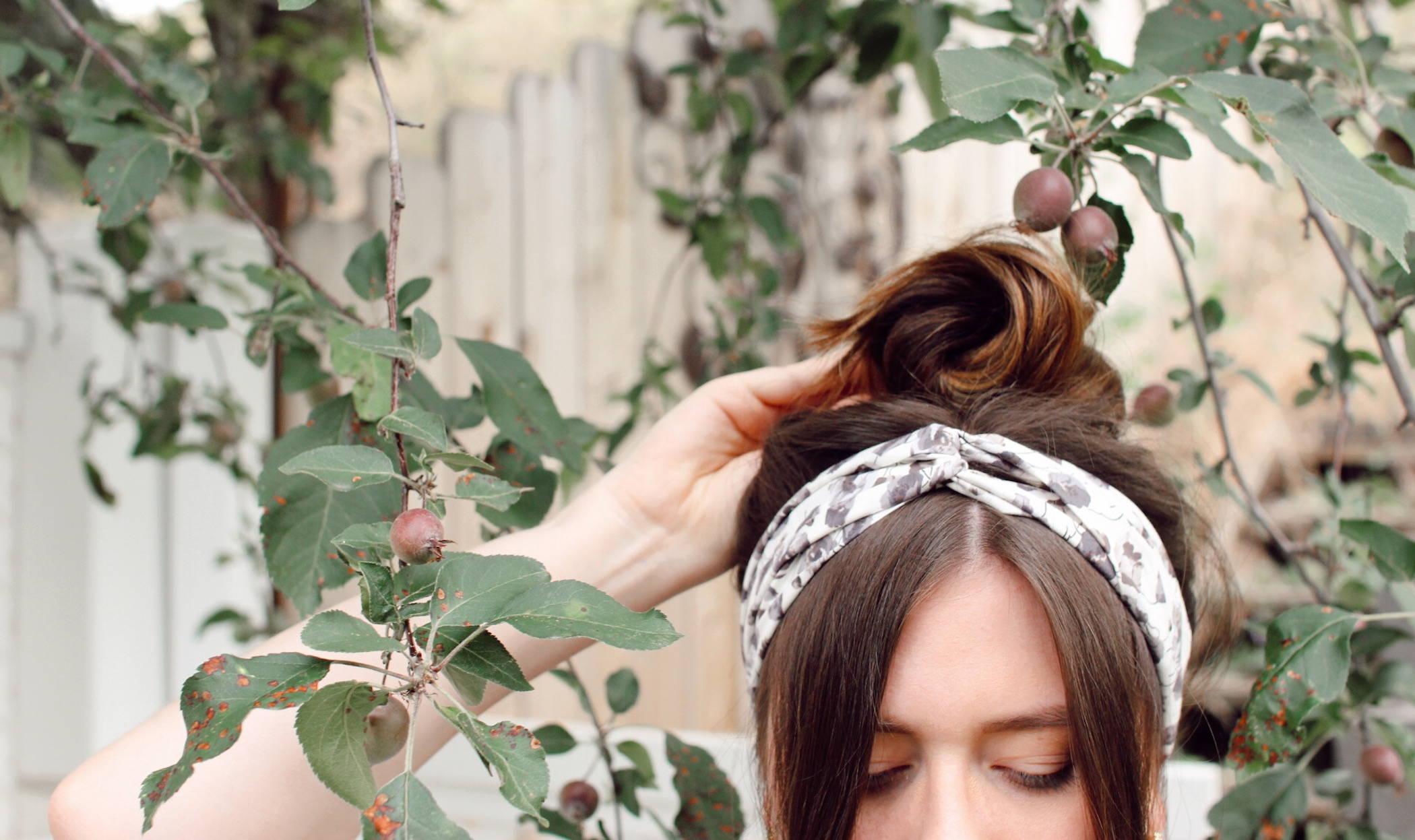 Davines hair hack bun Davines scarf