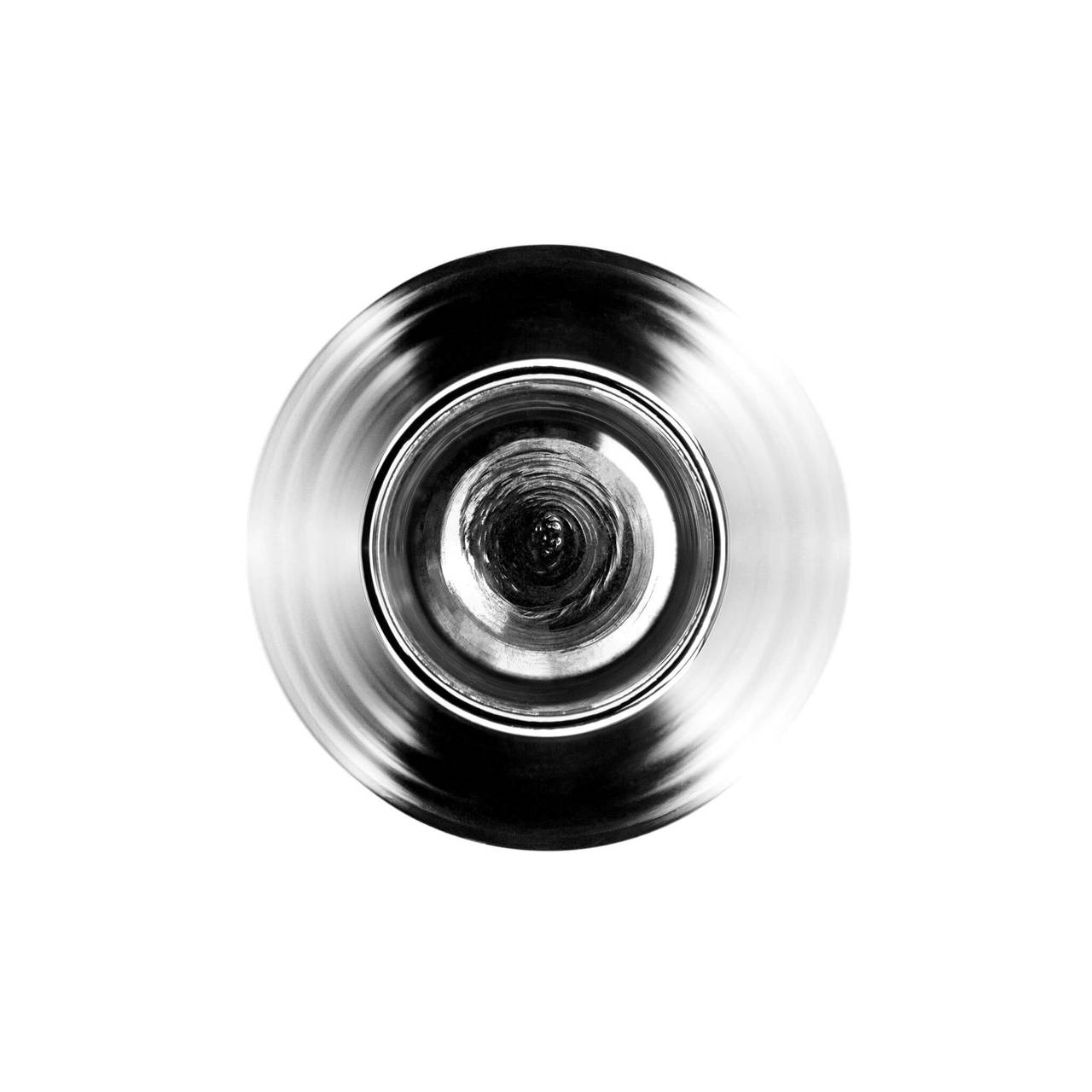 Silver Conical Vase top view