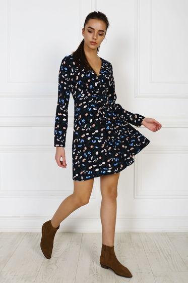 Платье-узел в цветочный принт