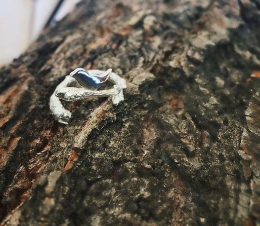 Кольцо серебряное «Ветвь»