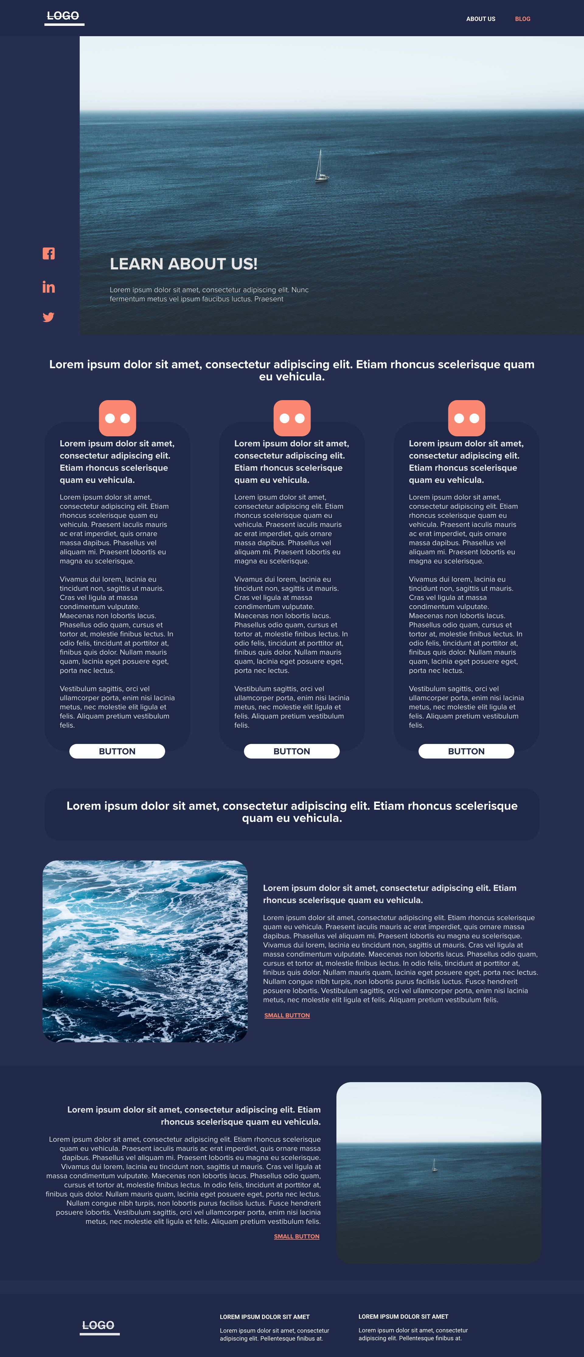 Sea Blue template's gallery image