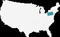A Map Highlighting Pennsylvania