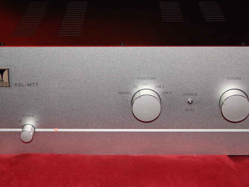 Kondo AudioNote Japan KSL-M77 with phono Mint Store Demo Ref Pre!