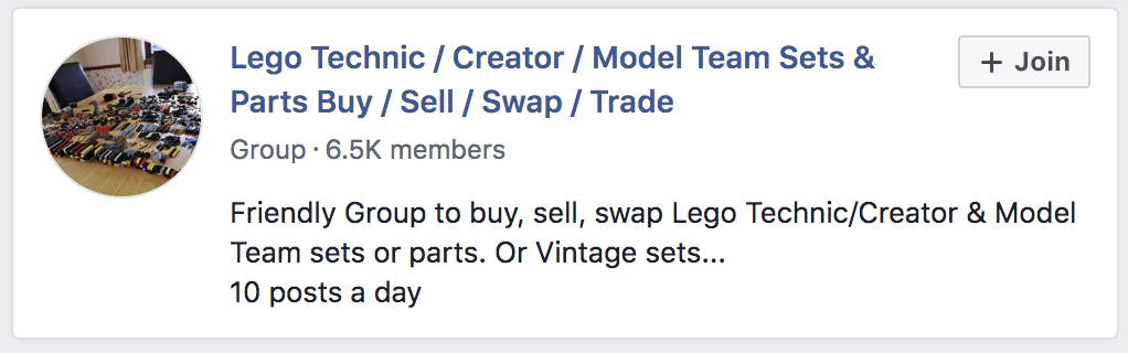lego facebook groups