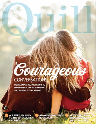 Cover of The Quill of Alpha Xi Delta Spring 2016