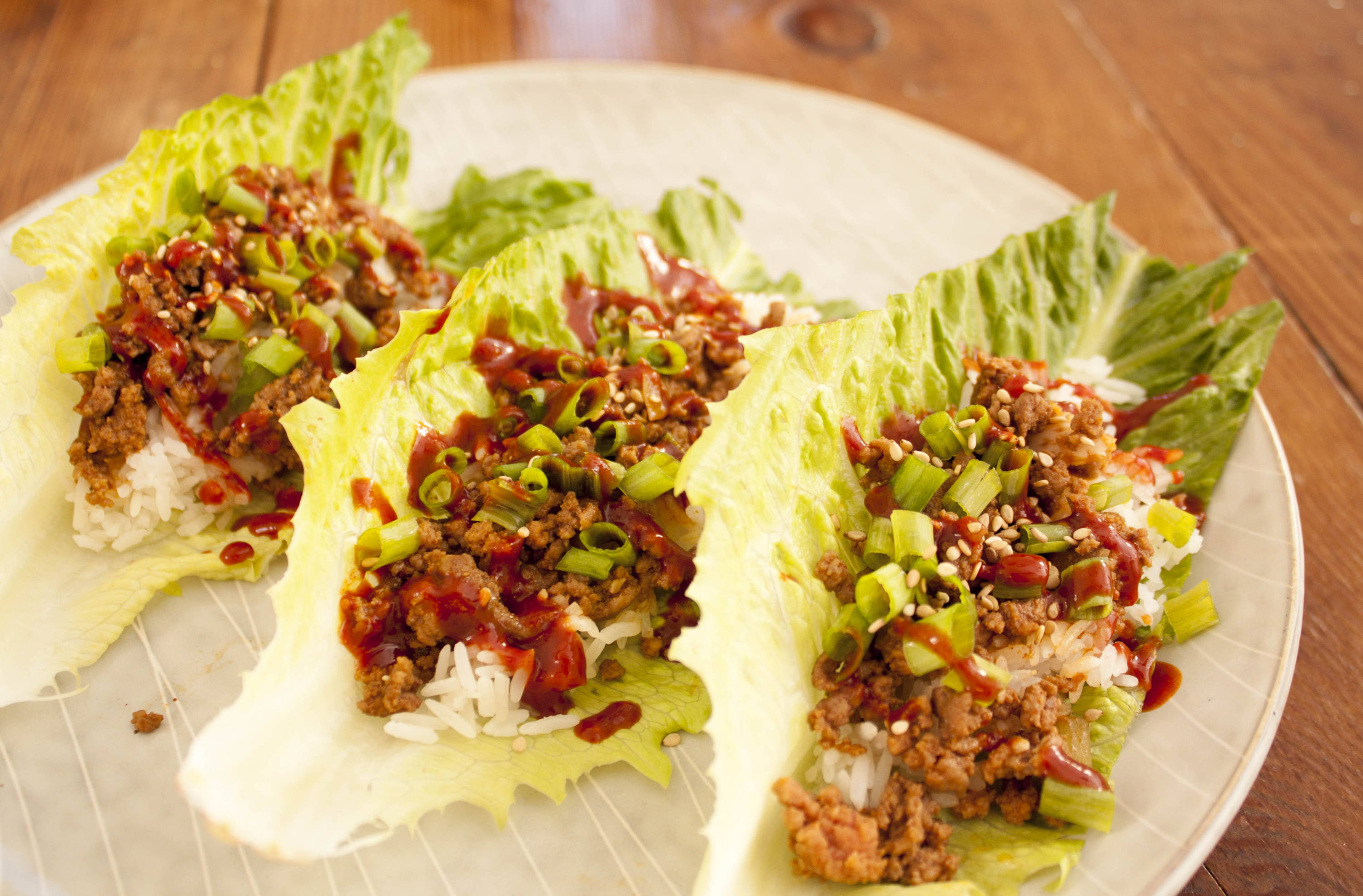 healthy pork lettuce wraps with KPOP gochujang marinade