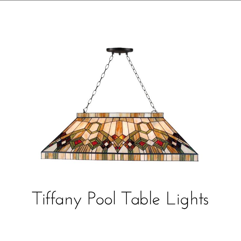 tiffany pool table lamps