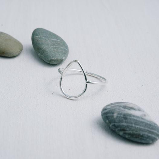 Кольцо капелька «Геометрия»