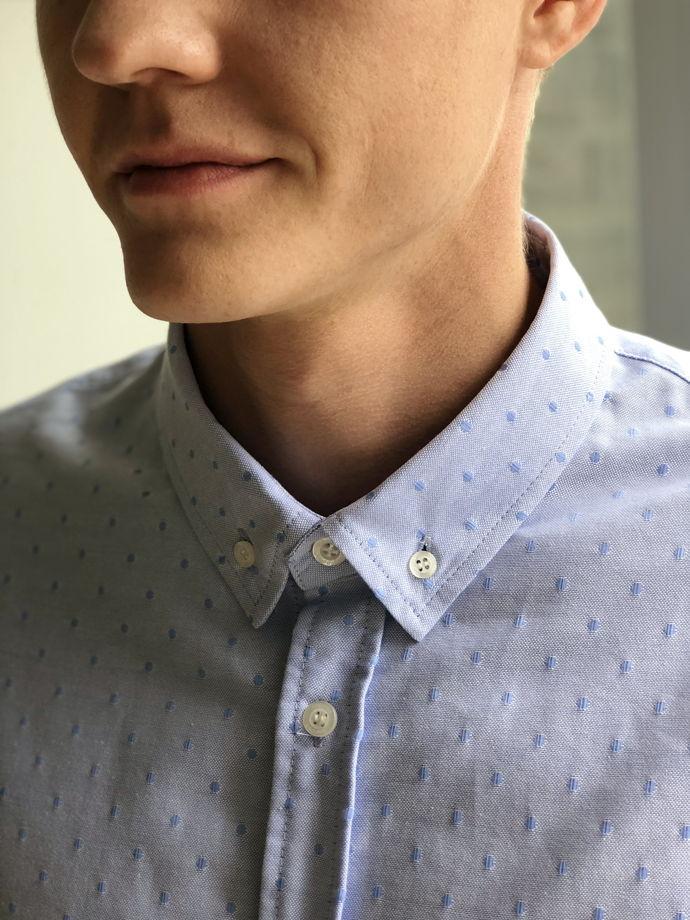 Рубашка мужская голубая