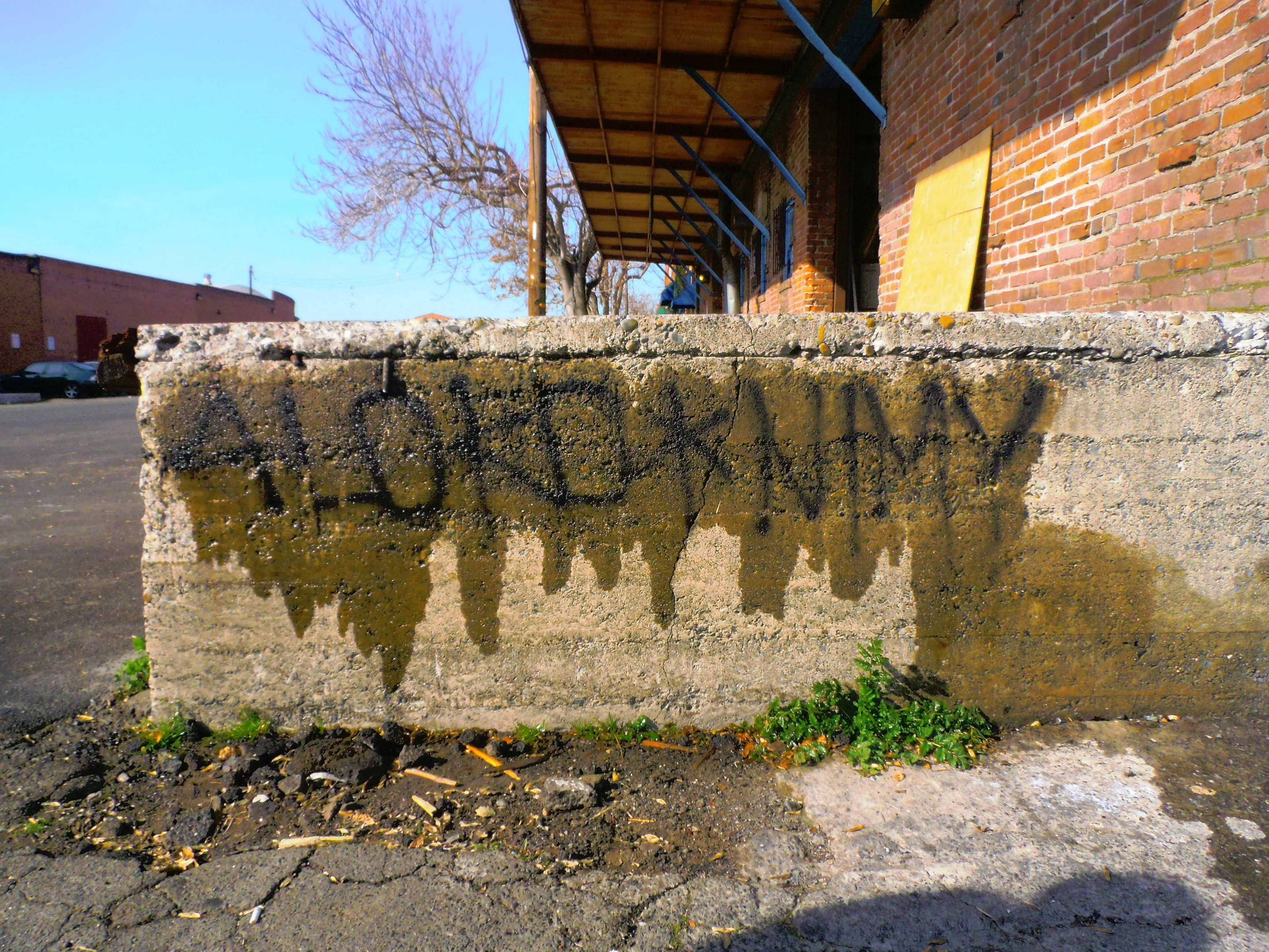 graffiti removal from brick stone and masonry surfaces
