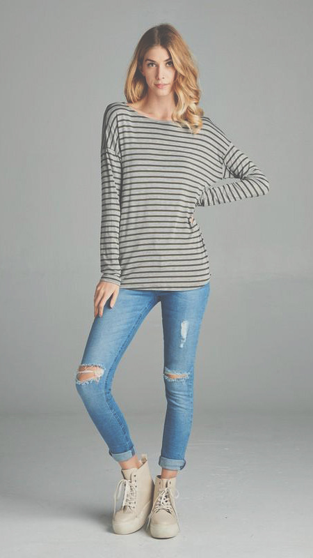 Primitive Beginnings Striped Long sleeve top