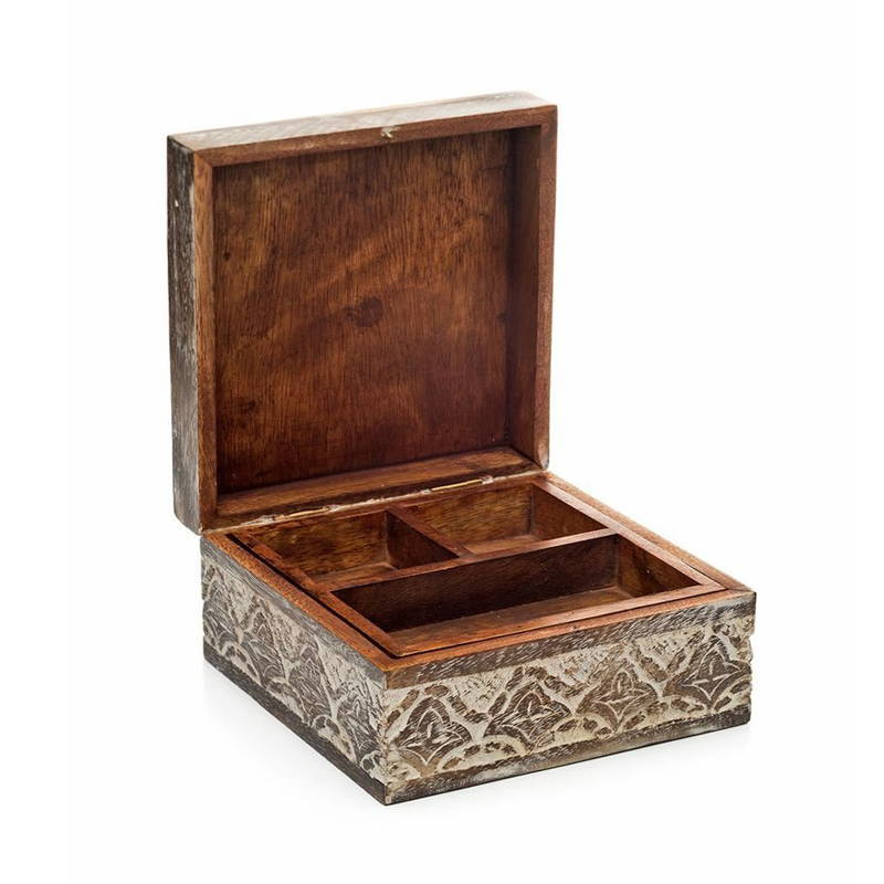 True Ethic Fair Trade Wooden Jewelry Box
