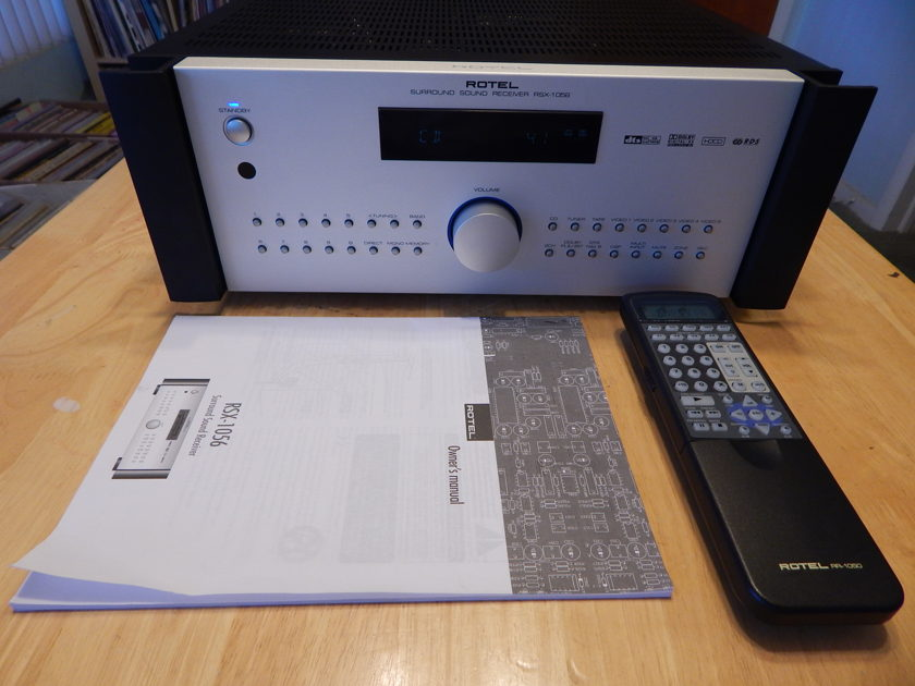 ROTEL  RSX-1056 AV RECEIVER Remote & Manual Mint