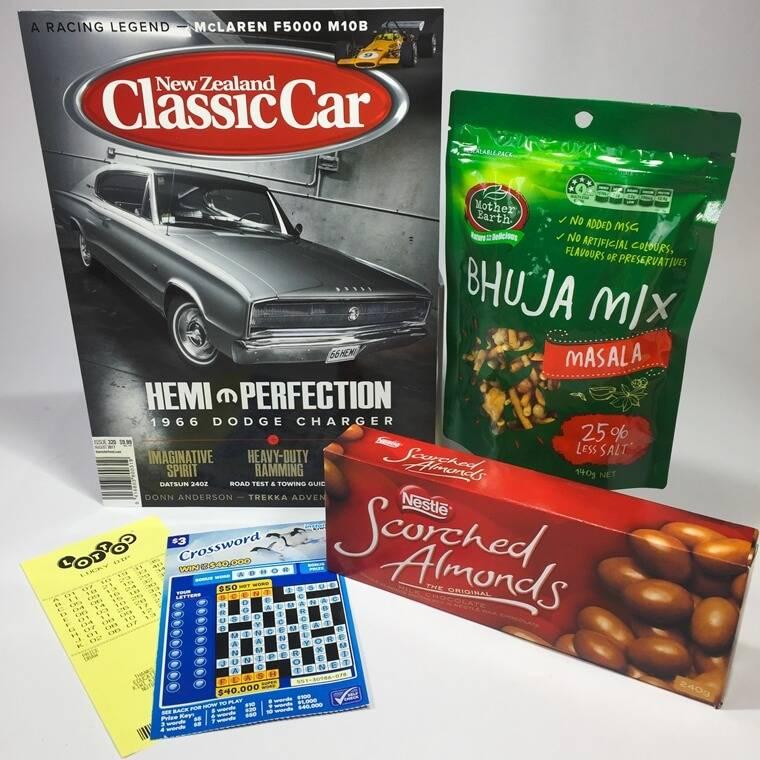 magazine and chocolates gift box