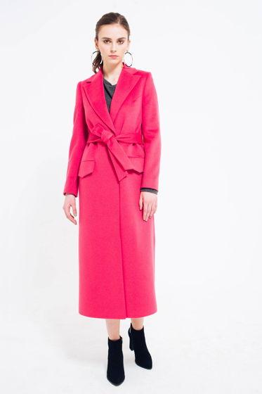 Пальто Длинное Розовое