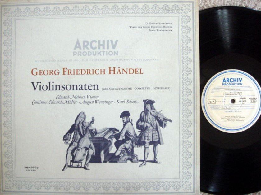 1st Press Archiv / MELKUS, - Handel Violin Sonatas,  MINT, 2 LP Set!