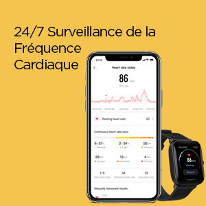 Amazfit Bip U Pro - 24/7 Surveillance de la Fréquence Cardiaque