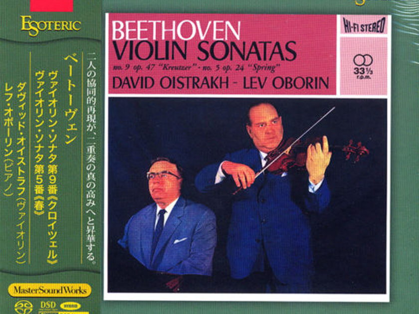 "Beethoven - Violin Sonatas  ""Kreutzer"" and 'Spring""  -by Oistrakh , Esoteric SACD, New"