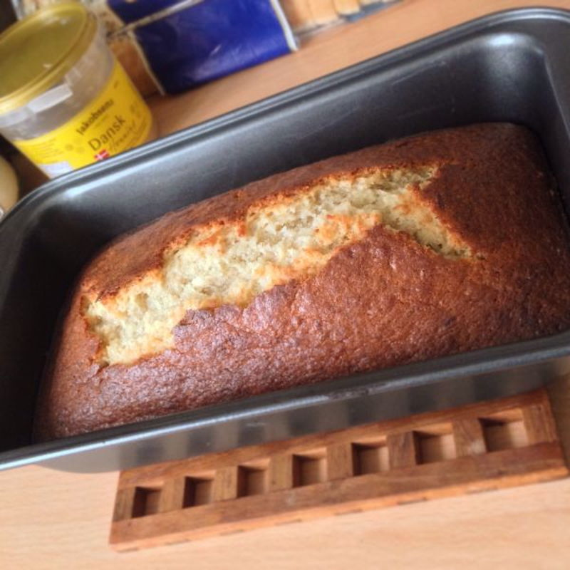 Countless time making banana bread using Grace's recipe.