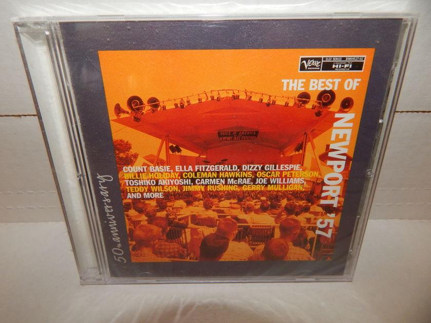 NEWPORT '57 BEST OF Dizzy Gillespie Mulligan - Ella Fitzgearld Various Jazz Artists 50th Anniversary Verve 2007 SEALED 2 CD