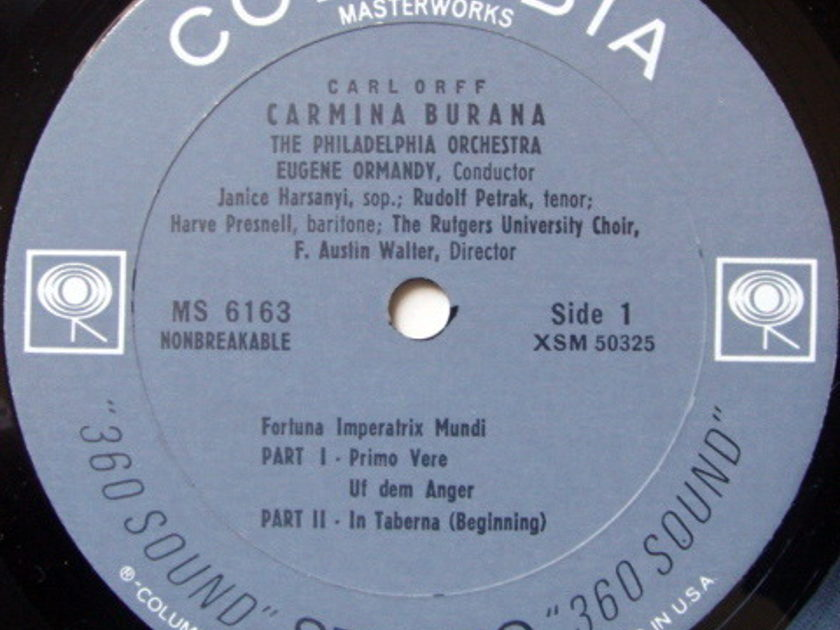 Columbia 2-EYE / EUGENE ORMANDY, - Carl Orff Carmina Burana, NM!