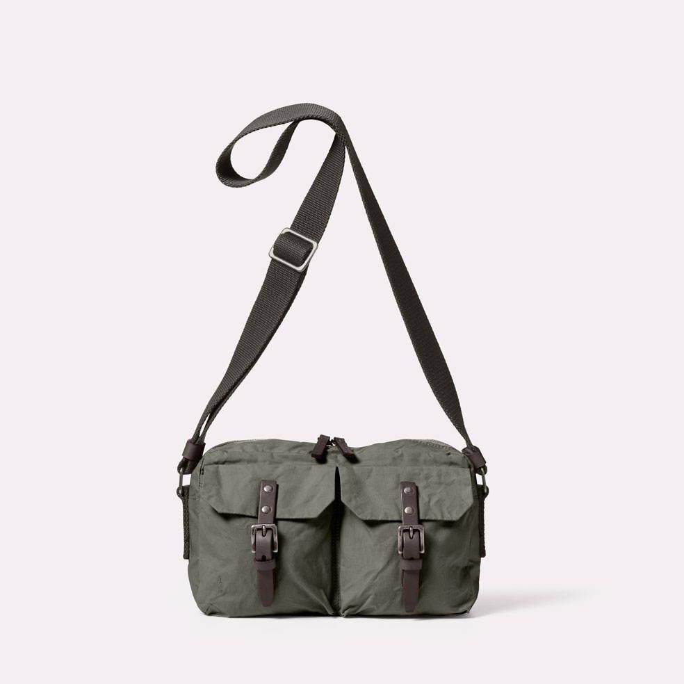 Ally Capellino Franco Waxed Cotton Crossbody Bag in Army Green