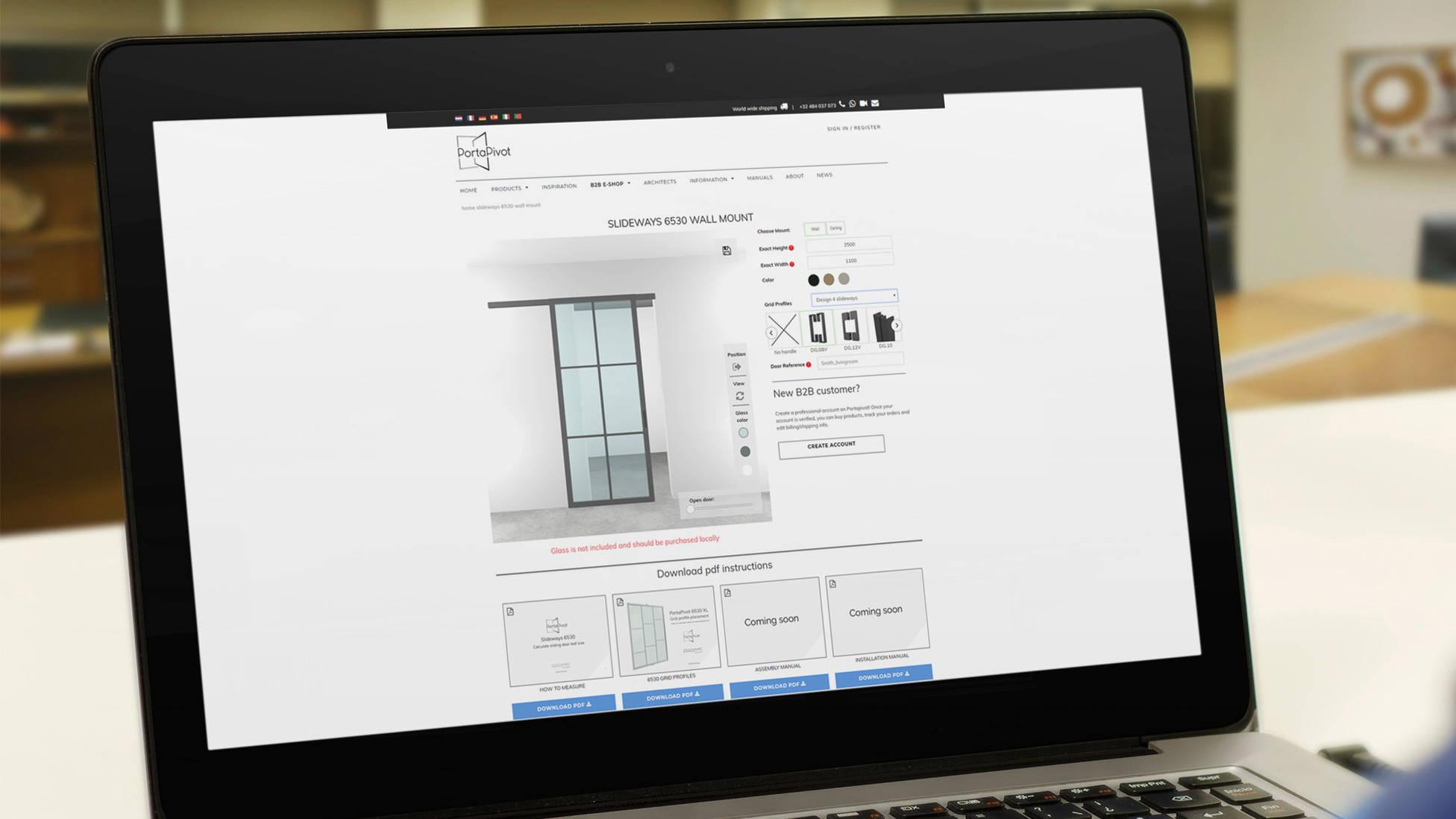Slideways 6530 online sliding door configurator