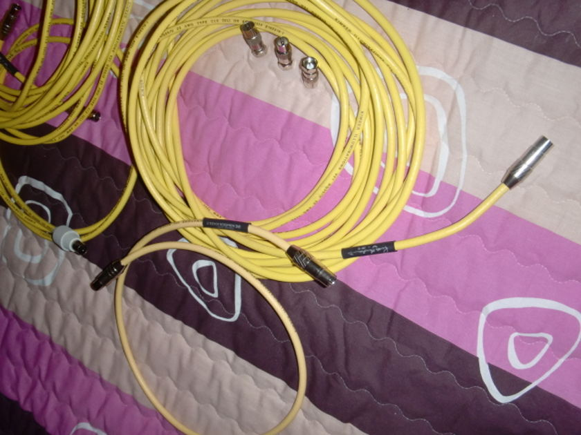 KIMBER V21 digital 75 ohm cable terminated with  Russ Andrews high quality coax connectors used inhouse as an aerial low loss cable, separate lengths in total 18m/very good condition!!!