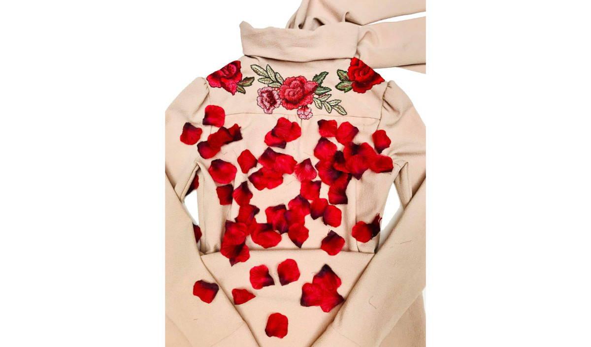 CODOGIRL Rose Petals Custom Artwork on Jacket