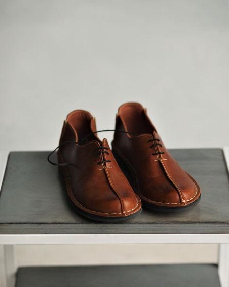 Ботинки ручной работы из натуральной кожи