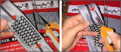 how to snip the finger slits on HandBand Pro®