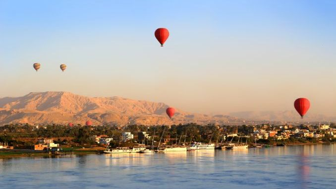 Hot air ballooning in Aswan during an Egypt tour