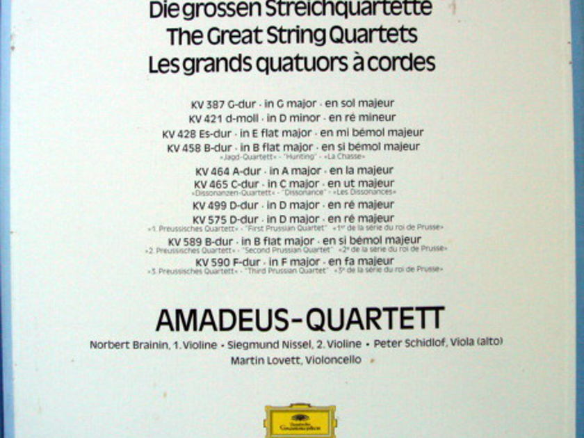 DG / AMADEUS QUARTET, - Mozart The Great String Quartets, MINT, 5LP Box Set!