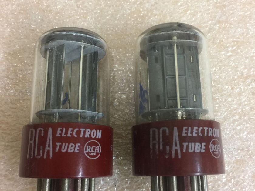 RCA 5692 RED BASE Matching Pair premium 6SN7GT