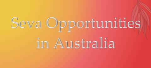 Seva Opportunities in Australia Button