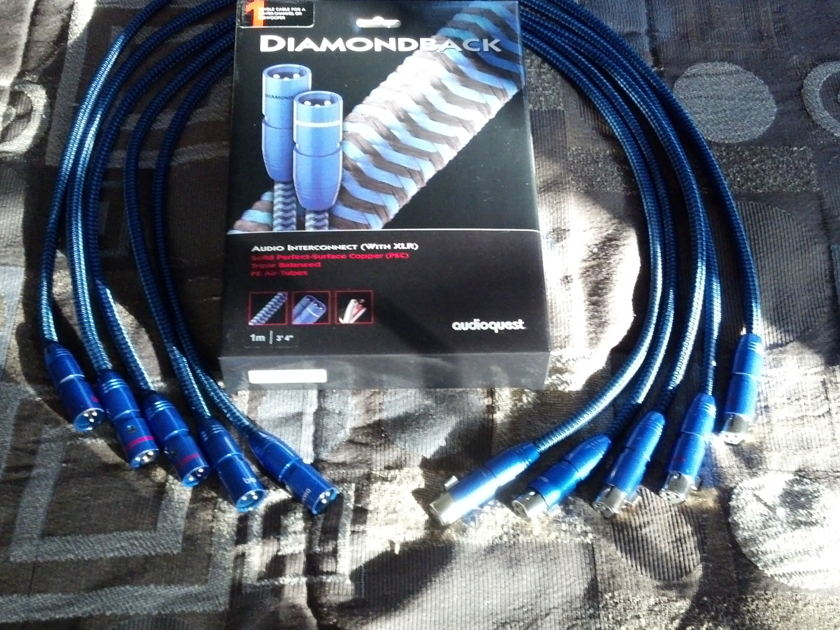 AudioQuest  Diamondback 1m XLR Set of 5