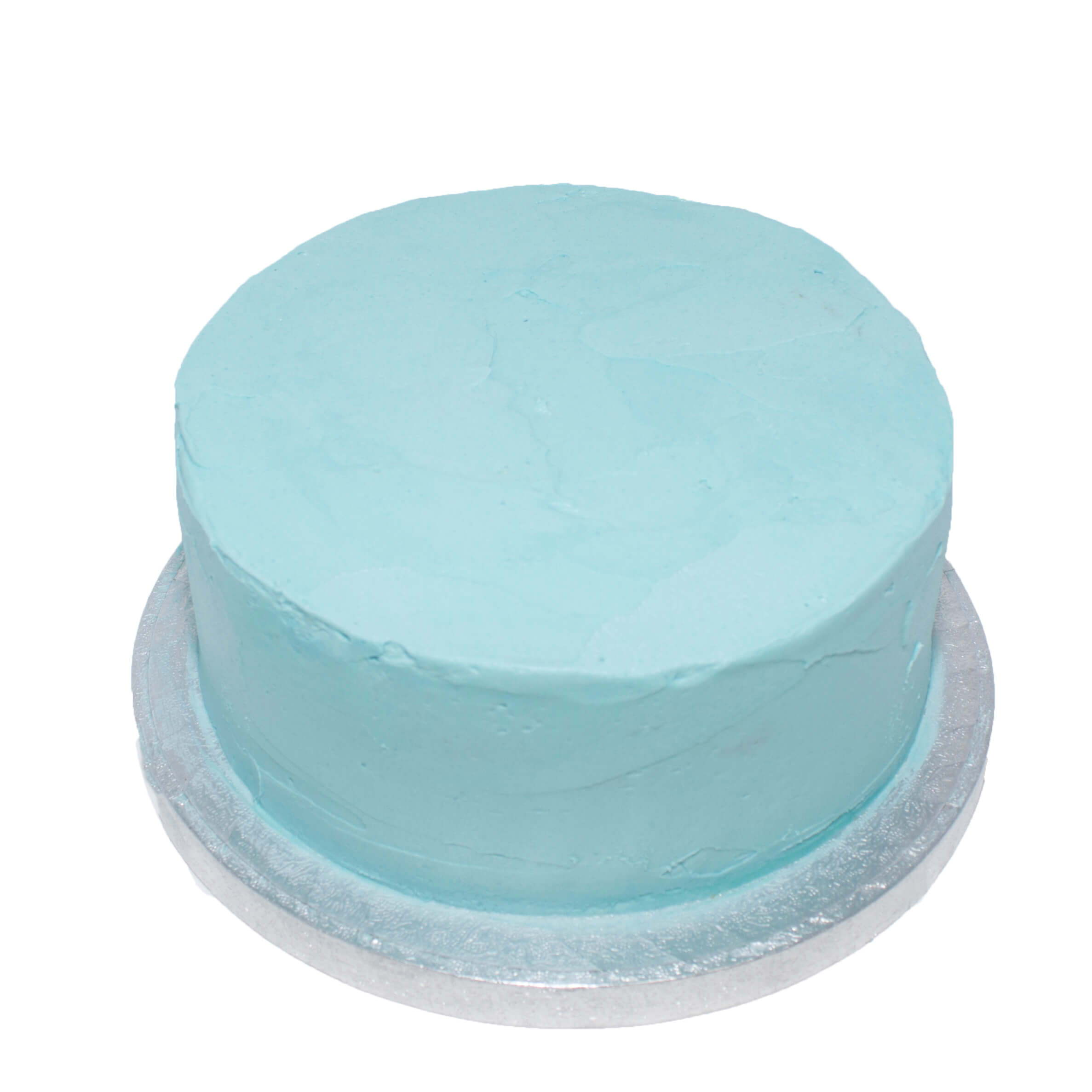 Blue cake decorating for kids