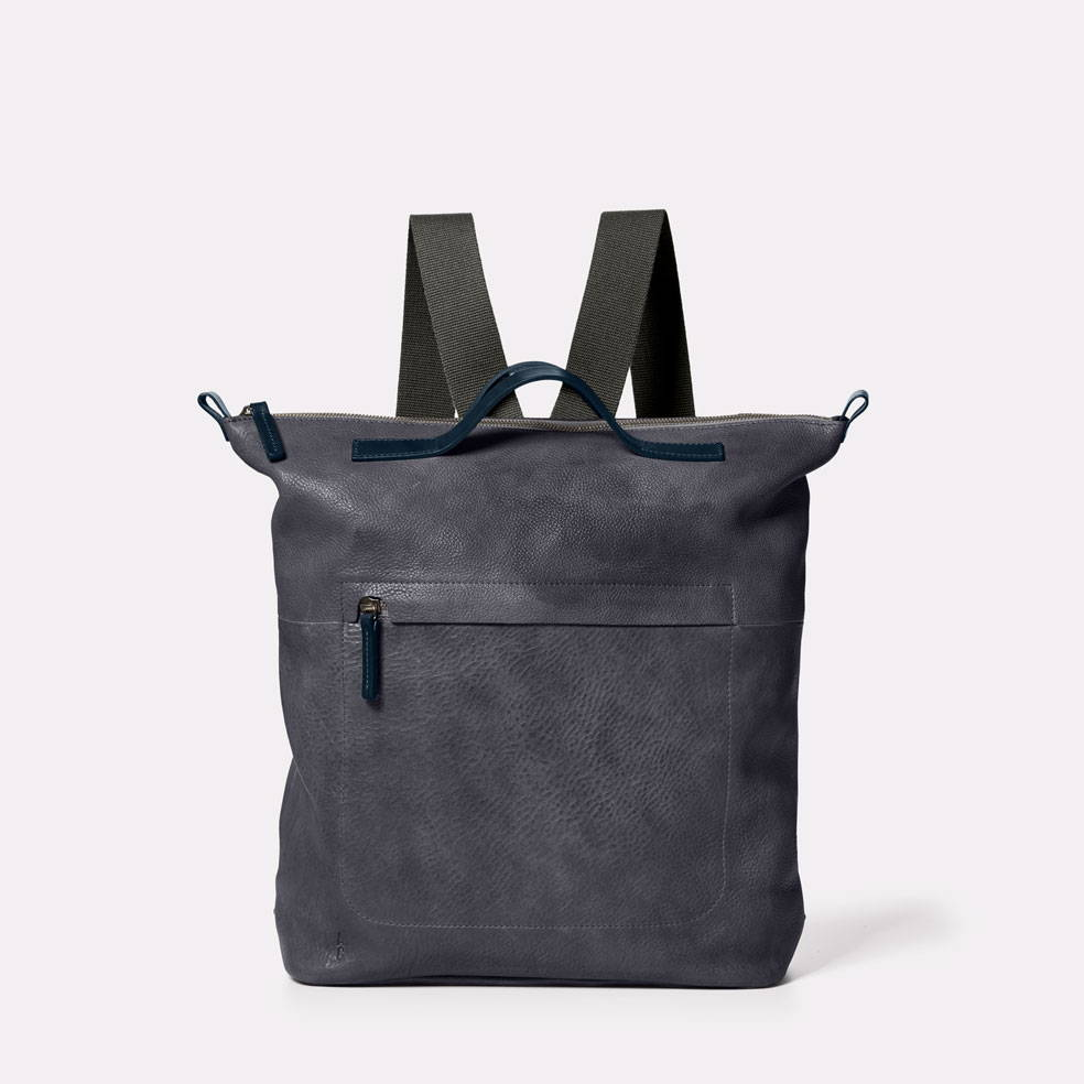 Ally Capellino Hoy Mini Leather Backpack in Dark Skies