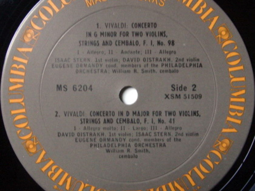 Columbia / OISTRAKH-STERN-ORMANDY, - Vivaldi Concertos for Two Violins, MINT!