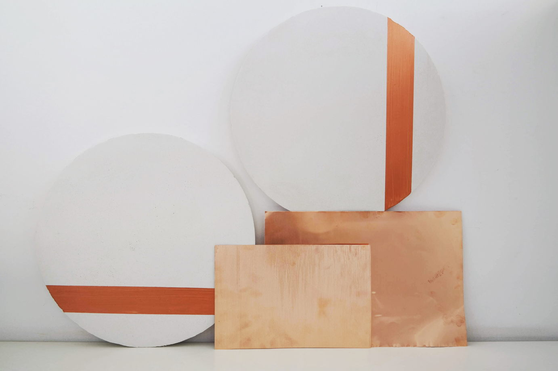 Набор из двух настенных панелей Copper Stripes