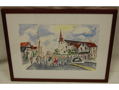 """Remembering the Emanuel Nine"" Framed Watercolor"