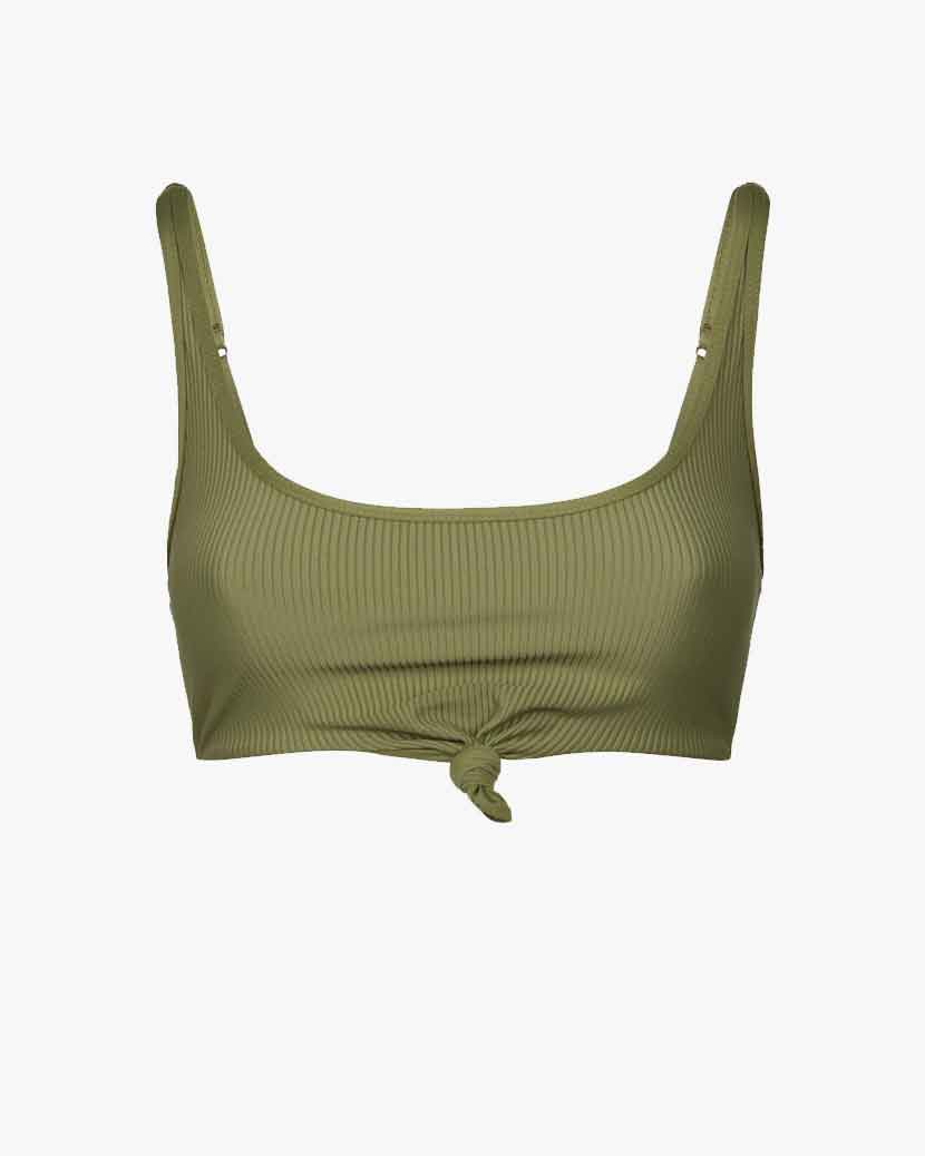 Frankies Bikinis Greer Bikini Top - Olive