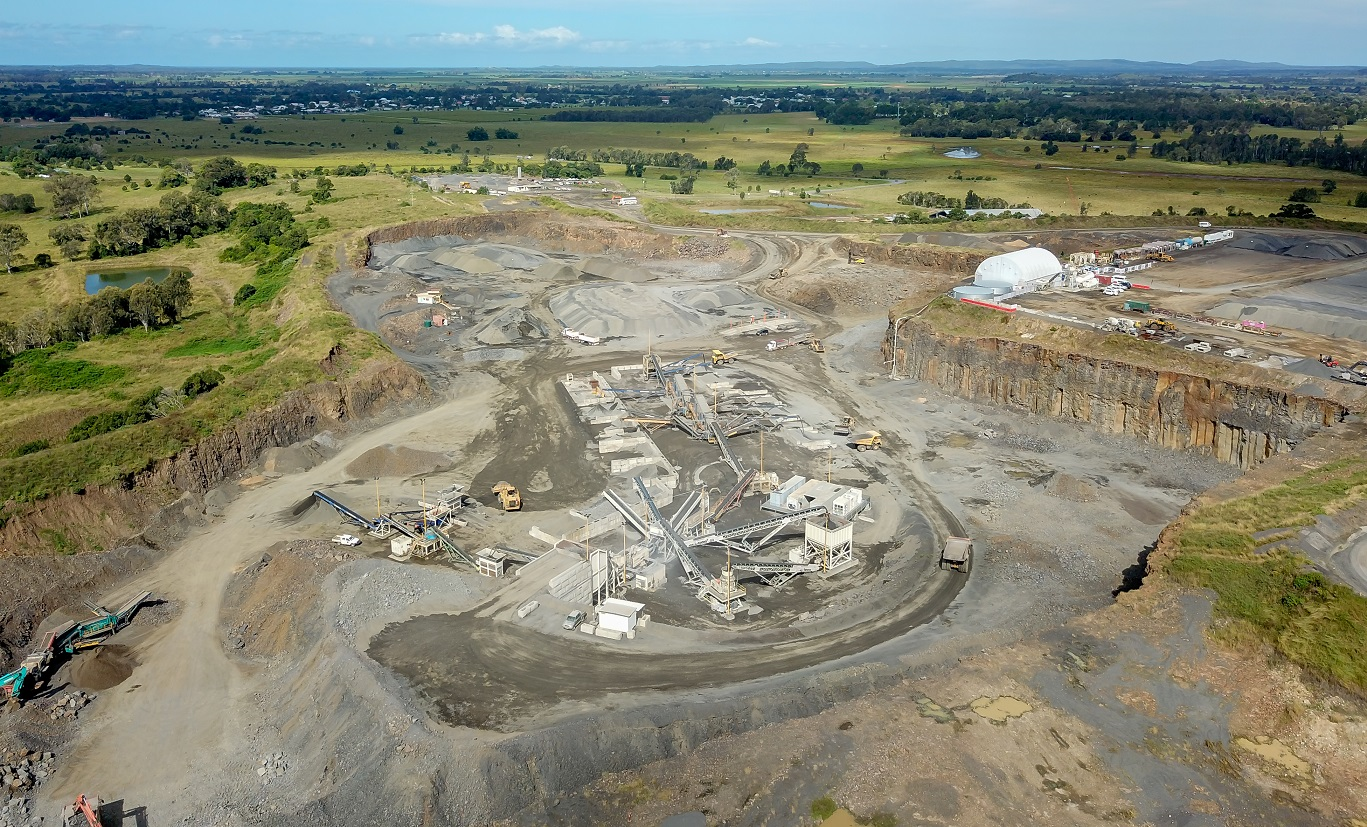 Aerial image of Petersons Quarry