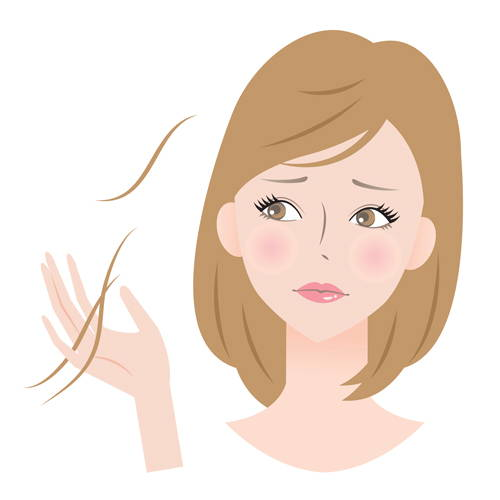 woman with thinning hair and hair loss