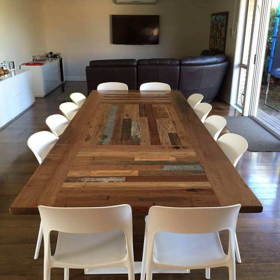 large timber dining table
